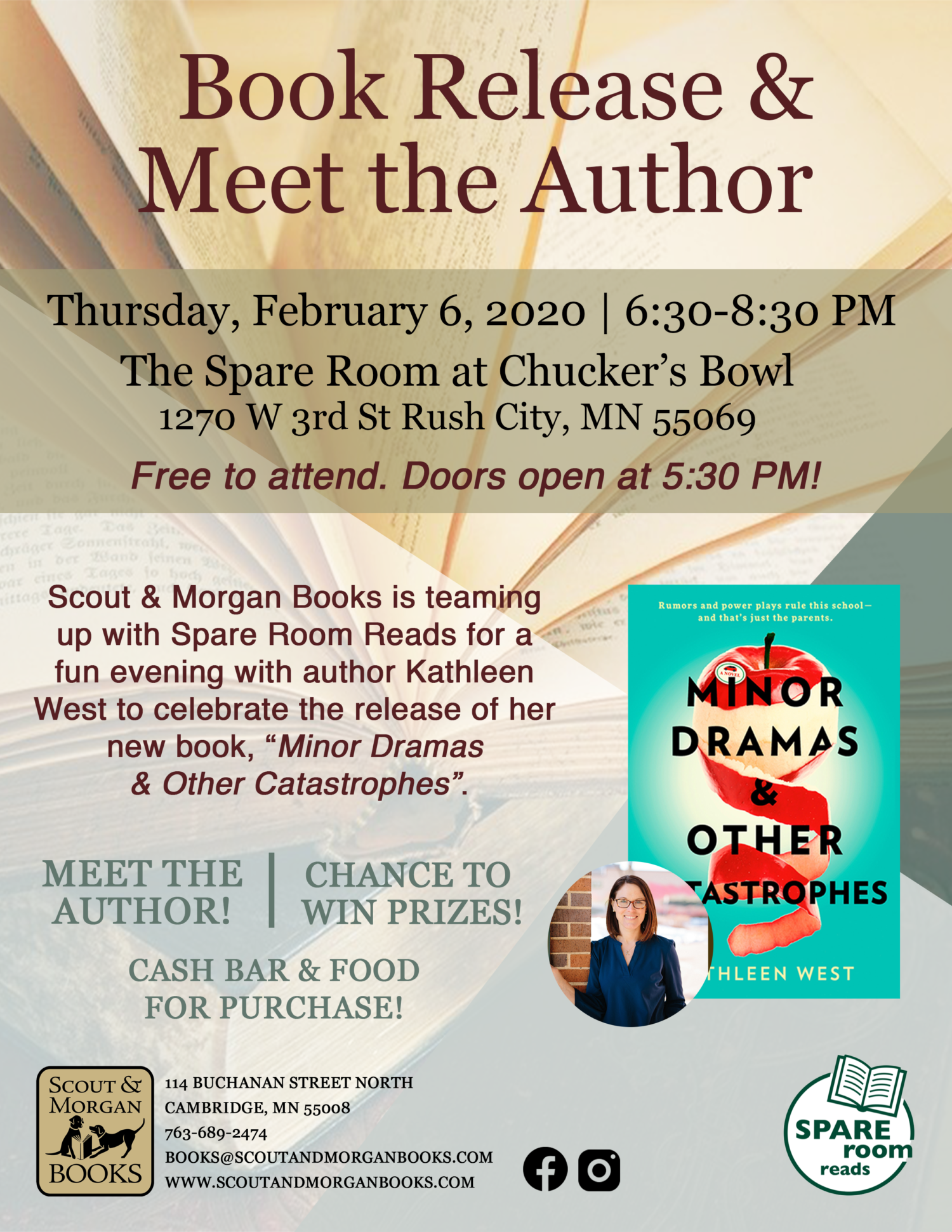 Minor Dramas & Other Catastrophes Book Release and Author Event!